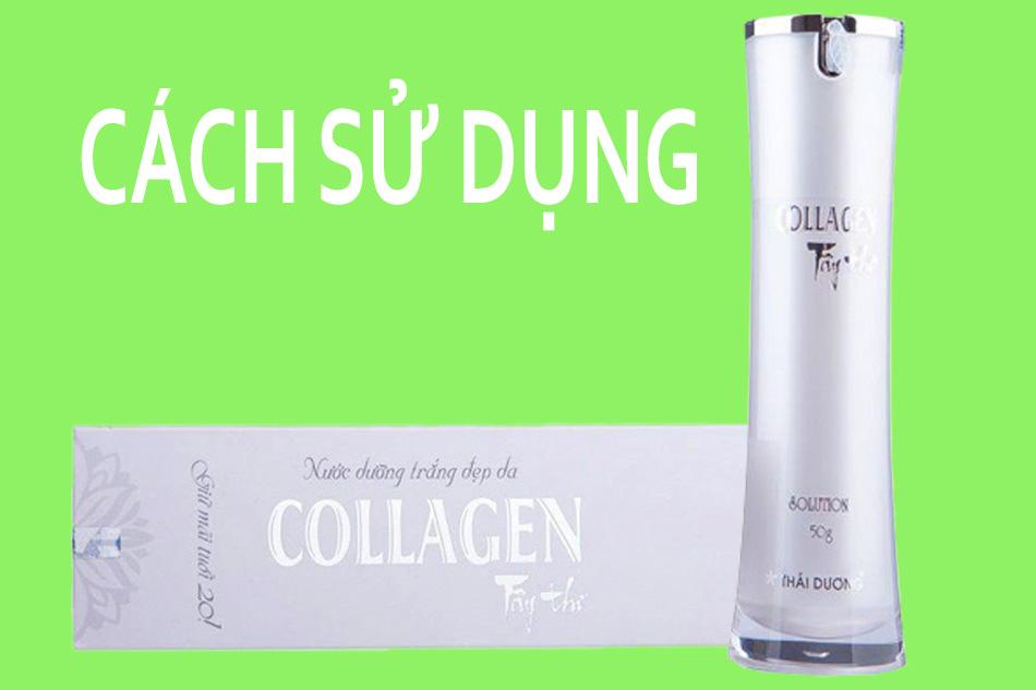 Cách sử dụng kem dưỡng da Collagen Tây Thi